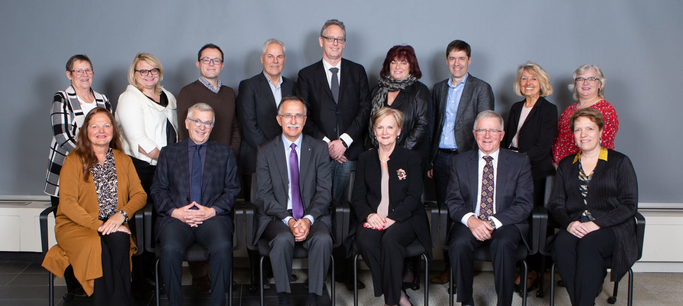 Canadian Patient Safety Institute Board of Directors (Left to right) Back row: Jeanette Edwards, Sue Owen, Dr. Chris Hayes, Claude Allard, Dr. Ian Rongve, Avis Gray, Marcel Saulnier, Dr. Irmajean Bajnok, and Jo-Anne Cecchetto. Front row: L. Martina Munden, Dr. Blair O'Neill , Ronald Guse (Chair), Chris Power (CEO), Dr. Brian Wheelock, and Hélène Vaillancourt. Missing from the photo: Allison Costello and Dean Skrepnek
